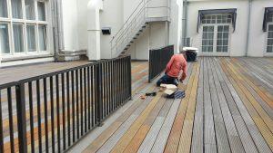 Dakterrashekwerk type spijl CT030-1200 voor Krasnapolsky Hotel in Amsterdam