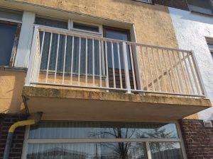 Aluminium striphekwerk voor balkon