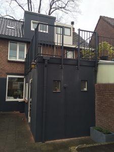 CT Hekwerk spijlhekwerk type CT030-1160 RAL7016 in Oisterwijk Brabant.