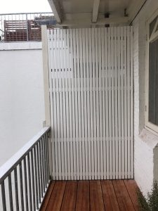 Privacy scherm van aluminium strip CT012.