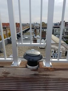 Aluminium spijlhekwerken op maat gemaakt voor dakterras